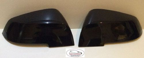 BMW 1 SERIES 2012 ON F20 / F21 PAIR OF WING MIRROR COVERS IN GLOSS BLACK